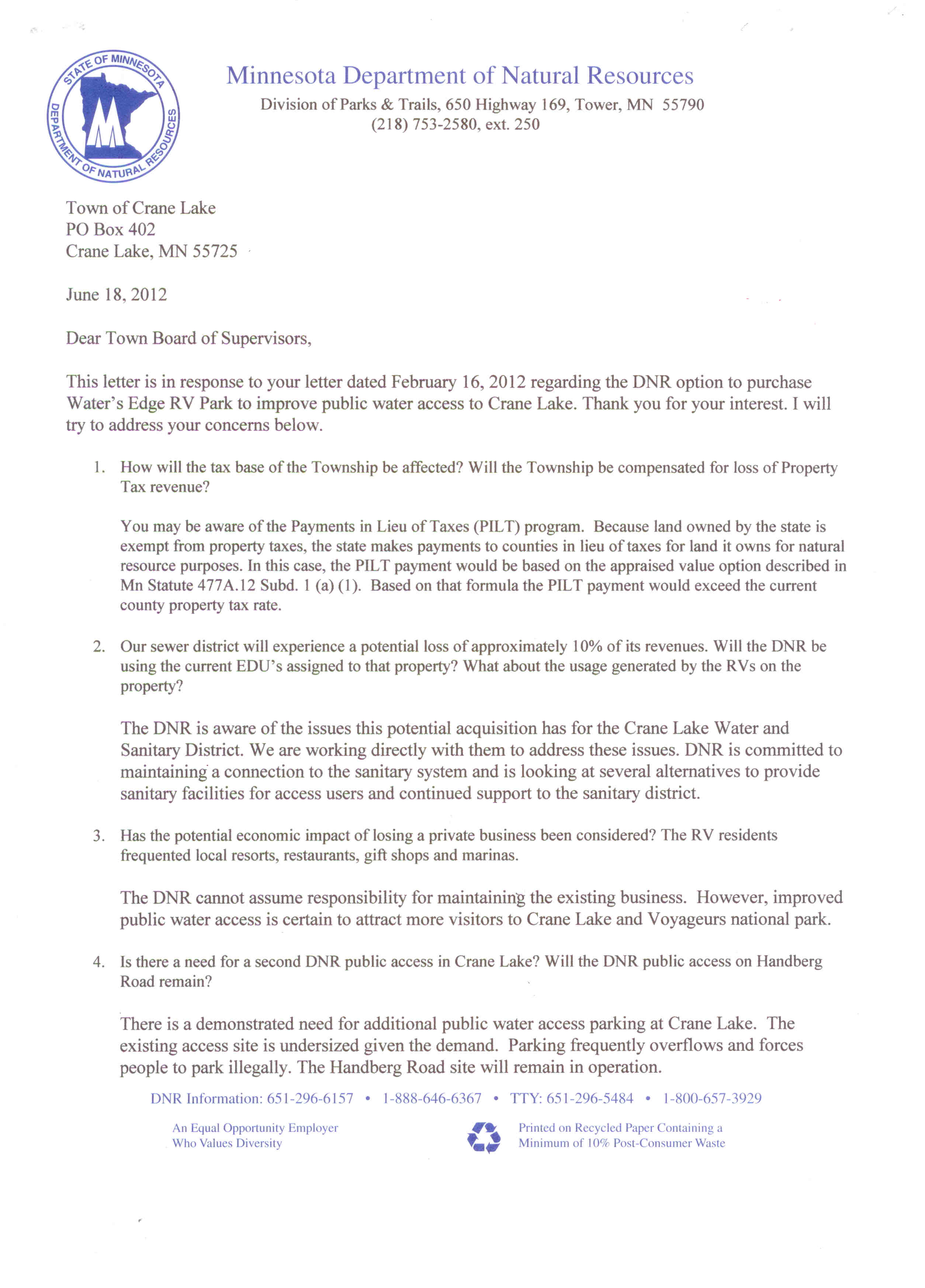 Sample Letter To Purchase Land from www.cranelaketwp.com